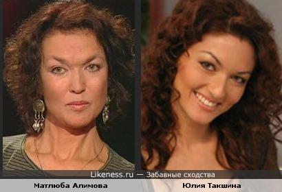 Актрисы Матлюба Алимова и Юлия Такшина