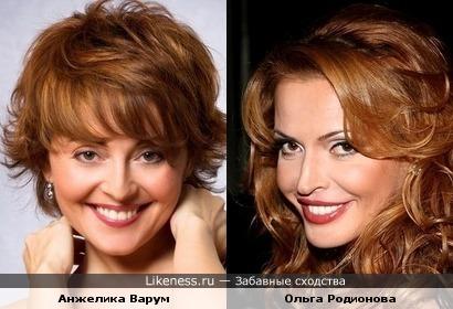 Анжелика Варум и Ольга Родионова