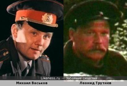 Актеры Михаил Васьков и Леонид Трутнев
