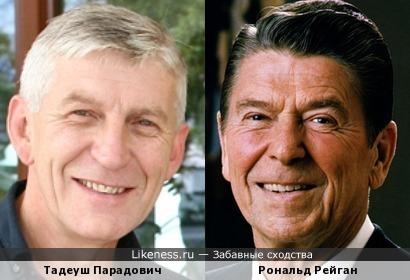 Тадеуш Парадович и Рональд Рейган