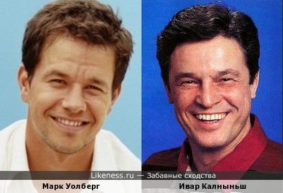 Актеры Марк Уолберг и Ивар Калныньш