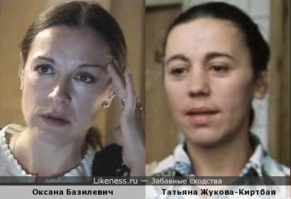 Актрисы Оксана Базилевич и Татьяна Жукова-Киртбая