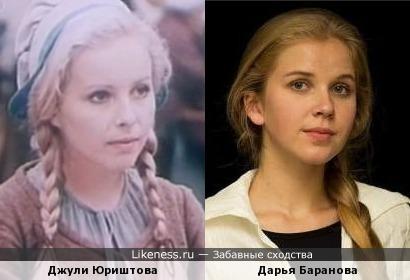 Актрисы Джули Юриштова и Дарья Баранова