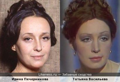 Актрисы Ирина Печерникова и Татьяна Васильева