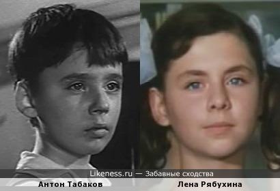 Актеры-дети Антон Табаков и Лена Рябухина