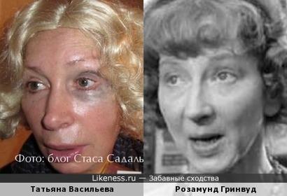 Актрисы Татьяна Васильева и Розамунд Гринвуд