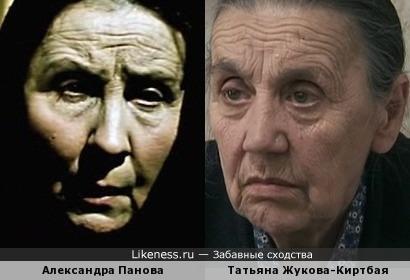 Актрисы Татьяна Жукова-Киртбая и Александра Панова