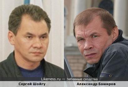 Сергей Шойгу и Александр Баширов