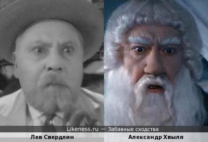 Актеры Лев Свердлин и Александр Хвыля (Александр Брессем)