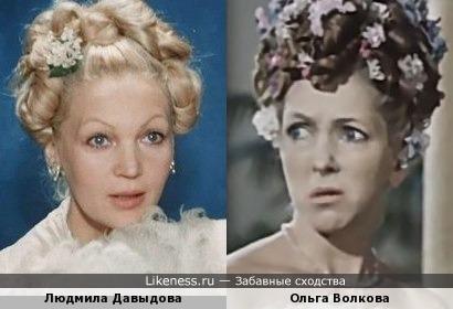Актрисы Людмила Давыдова и Ольга Волкова