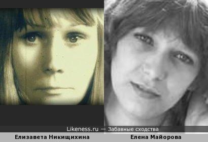 Актрисы Елизавета Никищихина и Елена Майорова