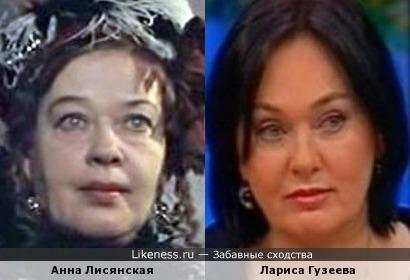 Актрисы Анна Лисянская и Лариса Гузеева