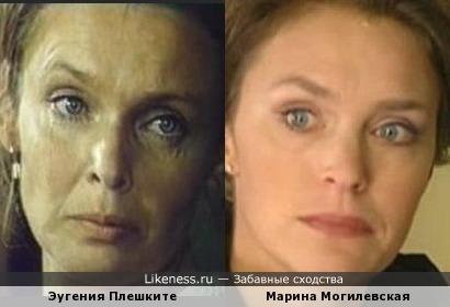 Актрисы Марина Могилевская и Эугения Плешките