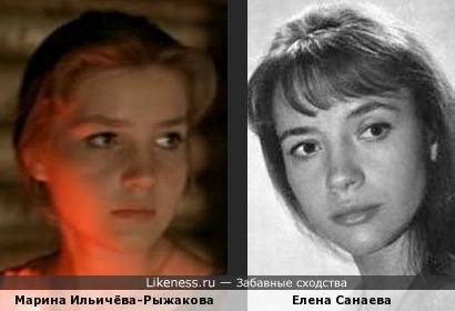 Актрисы Марина Ильичёва-Рыжакова и Елена Санаева