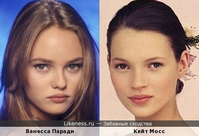 Ванесса Паради и Кейт Мосс