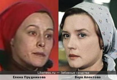 Актрисы Елена Прудникова и Вера Алентова