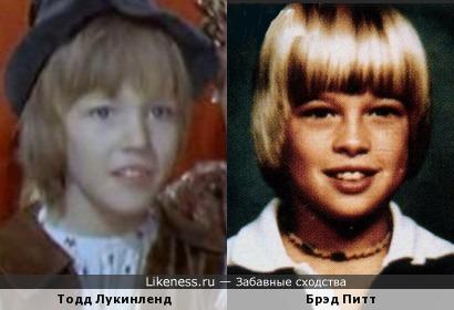 Актеры Брэд Питт и Тодд Лукинленд