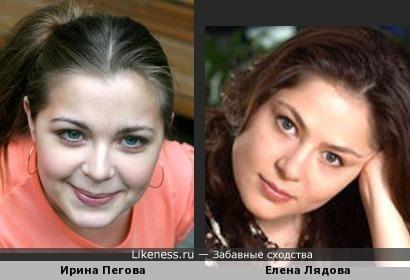 Актрисы Ирина Пегова и Елена Лядова