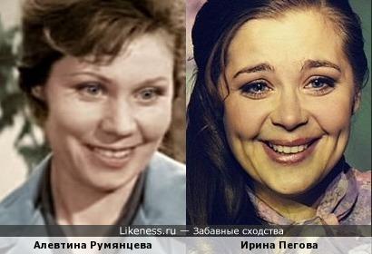 Актрисы Алевтина Румянцева и Ирина Пегова
