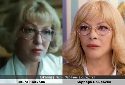 Актрисы Ольга Волкова и Барбара Брыльска
