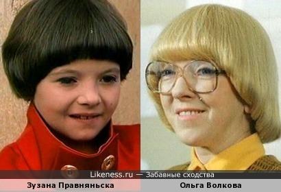 Актрисы Зузана Правняньска и Ольга Волкова