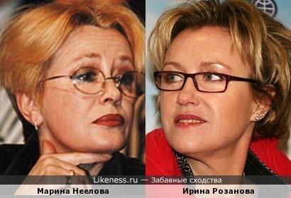 Актрисы Марина Неелова и Ирина Розанова