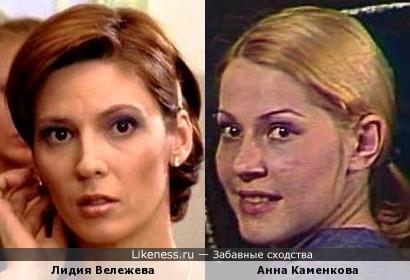 Актрисы Лидия Вележева и Анна Каменкова
