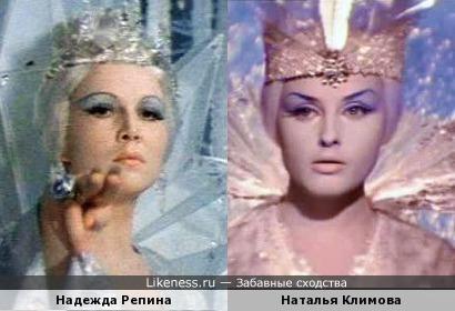Актрисы Надежда Репина и Наталья Климова