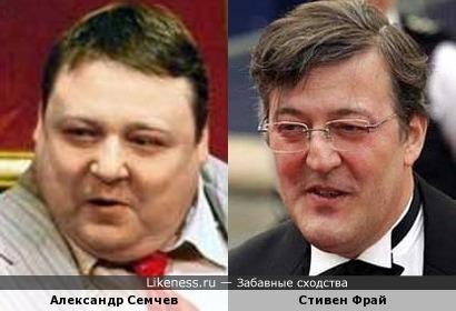 Актеры Александр Семчев и Стивен Фрай