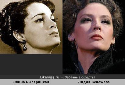 Актрисы Элина Быстрицкая и Лидия Вележева
