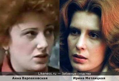 Актрисы Анна Варпаховская и Ирина Метлицкая