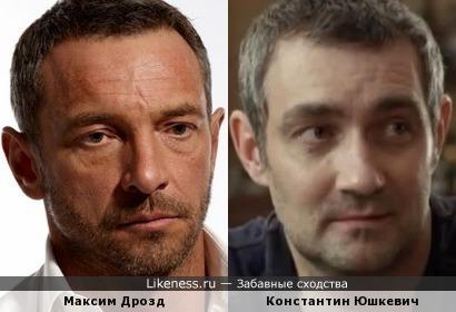 Актеры Максим Дрозд и Константин Юшкевич