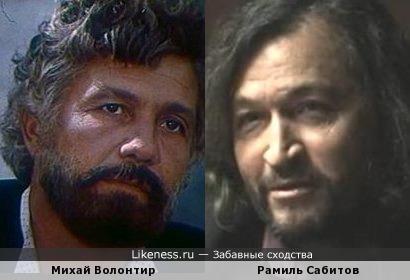 Актеры Михай Волонтир и Рамиль Сабитов