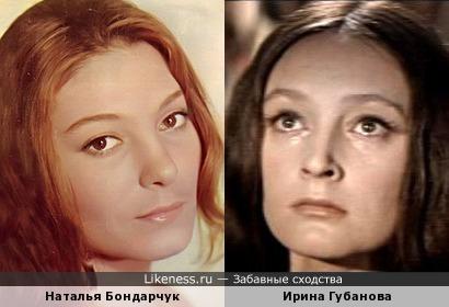 Актрисы Наталья Бондарчук и Ирина Губанова