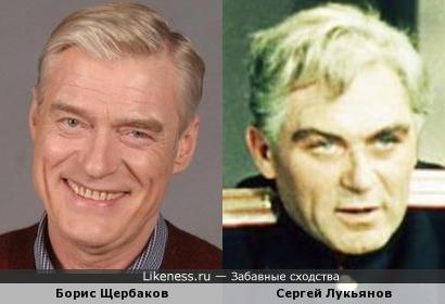 Актеры Борис Щербаков и Сергей Лукьянов
