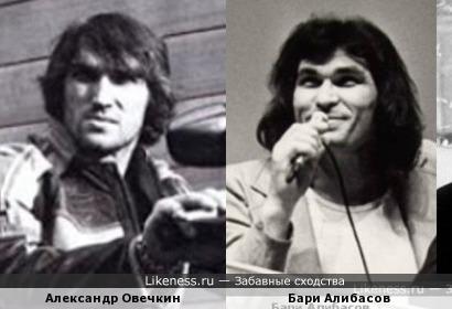Александр Овечкин и Бари Алибасов