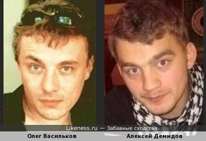 Актеры Олег Васильков и Алексей Демидов