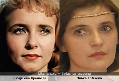 Актрисы Людмила Крылова и Ольга Гобзева
