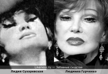 Актрисы Лидия Сухаревская и Людмила Гурченко