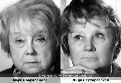 Актрисы Мария Барабанова и Лидия Сухаревская