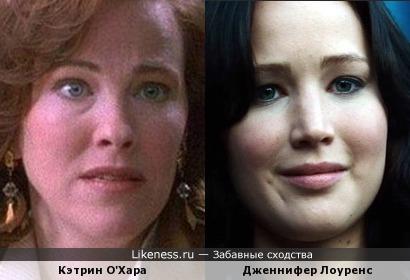 Актрисы Кэтрин О'Хара и Дженнифер Лоуренс
