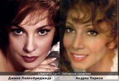 Актрисы Джина Лоллобриджида и Андреа Паризи