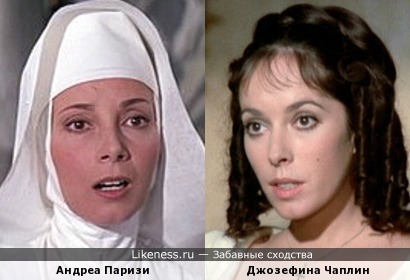 Актрисы Андреа Паризи и Джозефина Чаплин