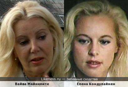 Актрисы Вайва Майнелите и Елена Кондулайнен
