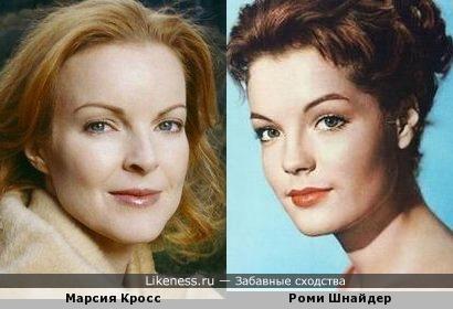 Актеры Марсия Кросс и Роми Шнайдер