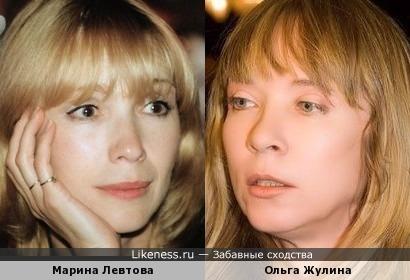 Актеры Марина Левтова и Ольга Жулина