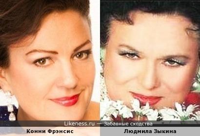 Певицы Конни Фрэнсис и Людмила Зыкина