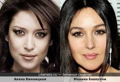 Алена Винницкая и Моника Беллуччи