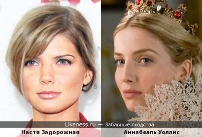 Настя Задорожная и Аннабелль Уоллис