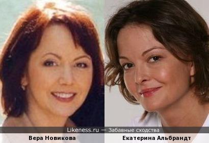 Актрисы Вера Новикова и Екатерина Альбрандт